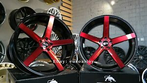 New 4x22 inch 5x115 STR Racing Wheels HELLCAT SRT For DODGE Challenger Charger