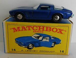 Matchbox Moko Lesney Cars, Regular Wheels, 14d Iso Grifo
