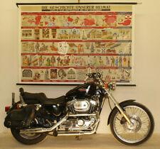Wandkarte Wandbild Geschichte Österreich Mittelalter-Heute 193x132 vintage~1965