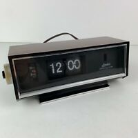 Linden Flip Clock Vintage Alarm Model 963 Made in Japan Cuckoo Clock