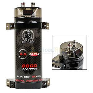 8.8 Farad Capacitor Bullz Audio BCAP8.8 8800 Watts Power 12V Car Digital Power