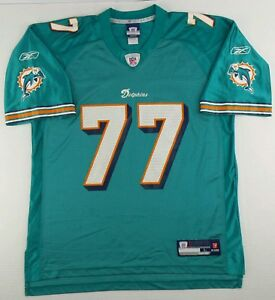 Vintage Reebok NFL Miami Dolphins Jake Long  Football Jersey Size Adult Large L