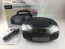 GPX CD AM/FM Radio Cassette Boombox Portable Player