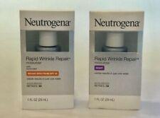 2 Neutrogena Rapid Wrinkle Repair Items DAY SPF30 + NIGHT MOISTURIZERS Exp. 2022