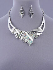 Alloy Silver Coloured Fashion Jewellery Sets
