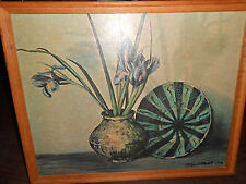 Oil Painting Persian Pottery Ethelyn C. Stewart Rare Framed Limited Edition Art