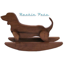 Rocking Dachshund Wood Rocking Dog Weiner Dog