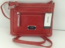Women's NINE WEST by MACYS Red ZIPOUT Expandable Shoulder Bag -$49 MSRP - 20%