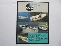 Vintage KMV Boat Sales Brochure Catalog Vital 1700 With 528 442 475 365 320