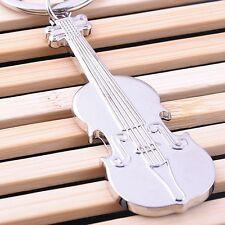 Charm Music Violin Zinc Alloy Musical Instrument Pendant Keychain Key Ring Gift