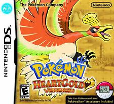 Pokemon Heartgold Version Nintendo DS Lite DSi XL 3DS 2DS w/Case, Inserts ML53