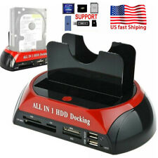 US HDD Docking Station eSATA to USB 2.0/3.0 Adapter For 2.5/3.5 Hard Disk Drive