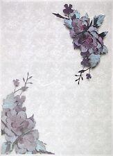 Carta di riso per Decoupage Decopatch Scrapbook Craft sheet A/3 fiore sulla Pizzo Bianco