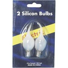 120 Pk Clear Silicon Tipped Christmas Country Candolier Light Bulb @2/Pk 1424