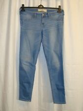 Women's HOLLISTER blue stretch skinny jeans size 11R W30 L29 great cond