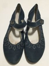 Remonte Dorndorf Womens Blue Suede Mary Jane Style Wedges Size EU 40 US 9 1/2