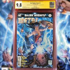 DARK NIGHTS METAL #5 VARIANT EDITION CGC 9.8 SS SIGNED BY SNYDER CAPULLO GLAPION