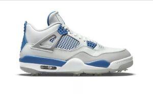 Nike Air Jordan 4 Retro Golf Military Blue Size US Mens 9.5 - Fast Shipping!