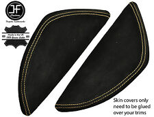 TAN STITCH 2X  DASH END SIDE TRIM SUEDE COVERS FITS VW T5 TRANSPORTER 03-11