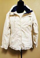 Morrow Snowboard Snow Ski Hooded White Jacket Ladies Medium Winter Sports
