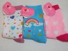Girls Socks Hearts Unicorn Rainbow Fits Shoe Size 4.5 - 11.5