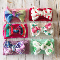 Elastic Baby Girls Headband Bow Newborn Infant Hair Band Turban Knot Head Wrap