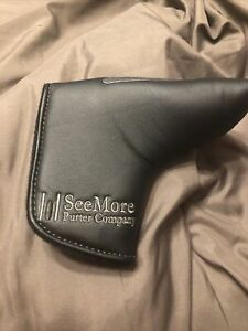 NEW SeeMore Black/Grey Blade Golf Putter Headcover