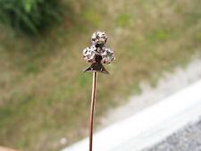 Superbe épingle à cravate en or rose massif 18 carats 18k fleur de lys ou trèfle