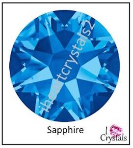 SAPPHIRE BLUE 20ss 5mm 144 pieces SWAROVSKI Crystal Flatback Rhinestones 2088