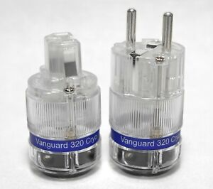 Vanguard CRYO Silver Plated C-320Ag IEC + E-320Ag Euro Schuko Plug Connector
