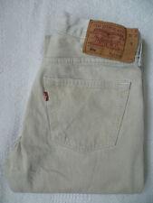 Levi's 501 Jeans de pierna recta W32 L32 de color beige Strauss # levf 890