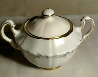sugar bowl, Morning Mist by Northumbria hand painted England vintage porcelain