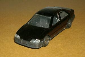 "1/64 Scale 1990's Honda Civic Sedan Diecast Car (3"") Yatming 818 Black"