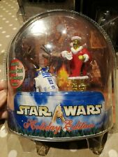 Star Wars Holiday Edition C3-PO and R2-D2 Christmas Action Figures Hasbro 2002