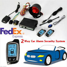 New listing 2-Way Car Auto Alarm Security System Keyless Entry + Lcd Long Distance Controler