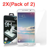 2X (2-Pack) Premium Tempered Glass Clear Screen Protector for Samsung Galaxy S6