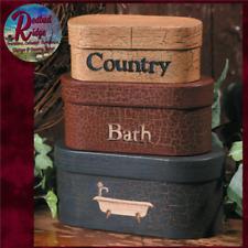 Primitive Country Bath Nesting Boxes, Storage Farmhouse Bath Decor