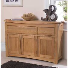 Crescent solid oak dining living room furniture large storage sideboard