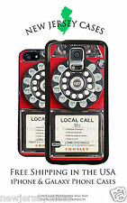 Vintage Red Payphone Design For Apple iPhone & Samsung Galaxy Phone Case