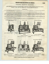 1921 PAPER AD Pagoma Wood Wooden Washing Machine Hand Electric Power