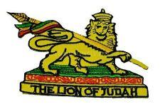 "(ZDO) THE LION OF JUDAH 3.5"" x 2.75"" iron on patch (AF68D) Bob Marley"