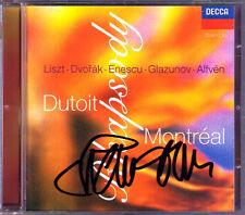 Charles DUTOIT Signiert RHAPSODY Liszt Alfven Enescu Glazunov Dvorak CD Oriental