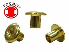 Brass Binding Open End Rivet Post Nut #6-32 X 0.230 - 25pcs