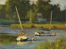 Don Demers RESTING ON THE RIVER giclee canvas, Duxbury, Massachusetts 02332