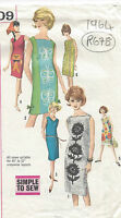 1964 Vintage Sewing Pattern B34 DRESS (R678)