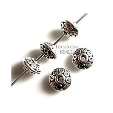 10 Intercalaires spacer Soucoupe 6.5x6.5x4mm Perles apprêts création bijoux A244