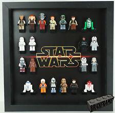 LARGE LEGO (32 figures) star wars Minifigure display Frame Case 30cm x30cm