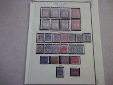 COOK ISLANDS Stamps EARLY UNUSED COLLECTION ON PAGE Scott 2018 CV $1135.00 US