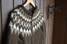 Icelandic handknit Sweater,Cardigan,full zip,New,outwear,size S,causal wear