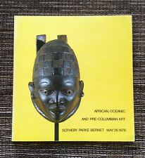 RARE VINTAGE 1978 Sotheby's Auction Catalog African, Oceanic & Pre-Columbian Art